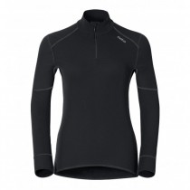 ODLO - SHIRT L/S TURTLE NECK 1/2 ZIP 155151 15000 - WOMEN